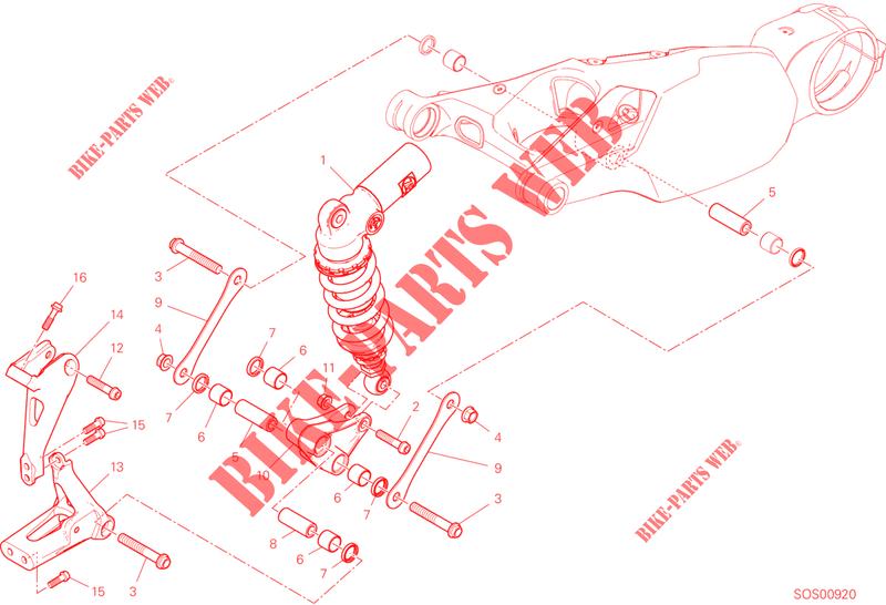 STOßDÄMPFER für Ducati Panigale 1100 V4 2019